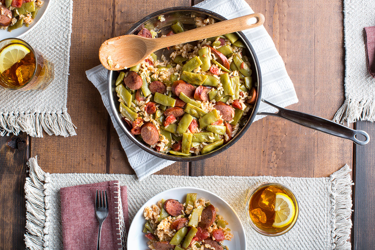Italian Skillet Green Beans and Rice